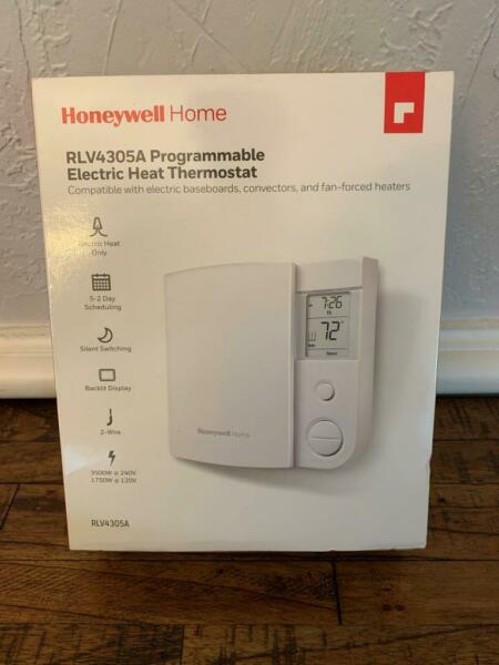 HONEYWELL RLV4305A 5 2 Day Programmable Electric Heat Thermostat Digital Display $27.95
