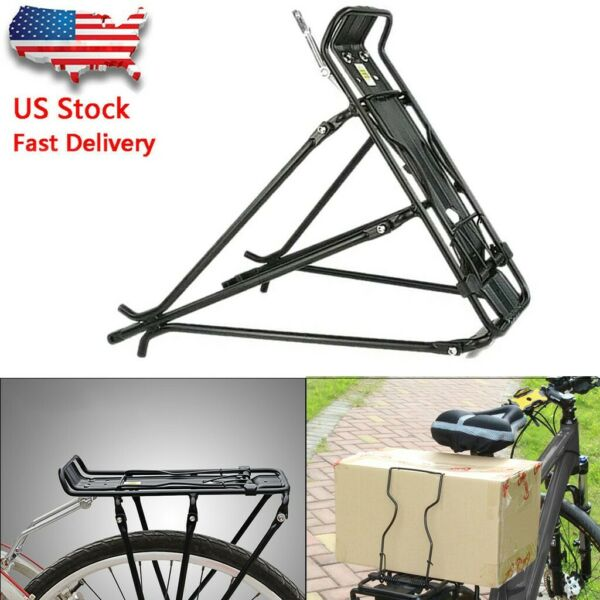 Bicycle Mountain Bike Rear Rack Seat Post Mount Pannier Luggage Carrier US 2021 $22.99