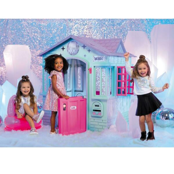 Deluxe Winter Playhouse Outdoor Indoor Large Girls House Cottage Castle Chair US $235.99