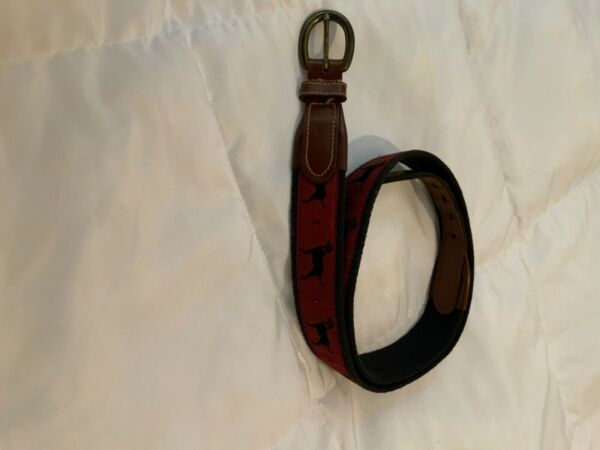 Iconic Black Dog Belt from Martha's Vineyard Size 36 1 1 4 inches wide $7.49