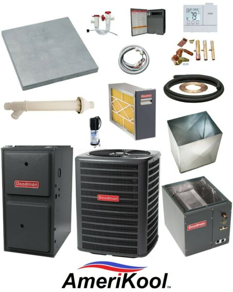 MOST COMPLETE 96% 5 Speed 60K btu Gas Furnace 2 Ton 15 SEER AC EXTRAS $3791.00