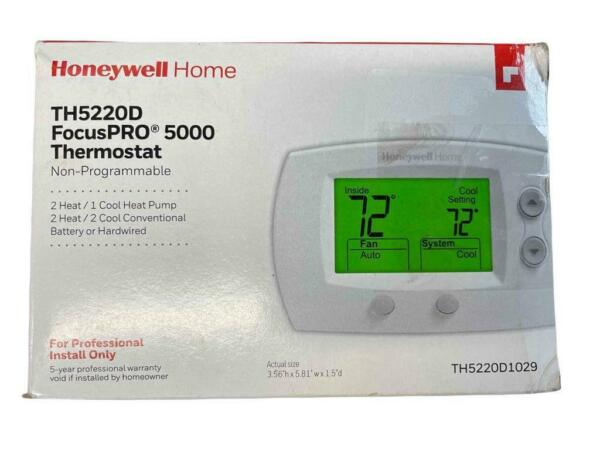NEW Honeywell FocusPRO 5000 TH5220D1029 Non Programmable Thermostat 2 Heat 1 Co $68.99