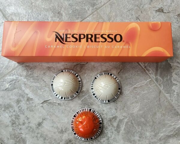 Nespresso Capsules Vertuo Caramel Cookie Full Sleeve with Pumpkin Sample