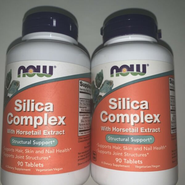 NOW 2 Unit SILICA COMPLEX Horsetail Extract 90 Tabs HAIR NAILS JOINTS EXP 2 21 $19.99