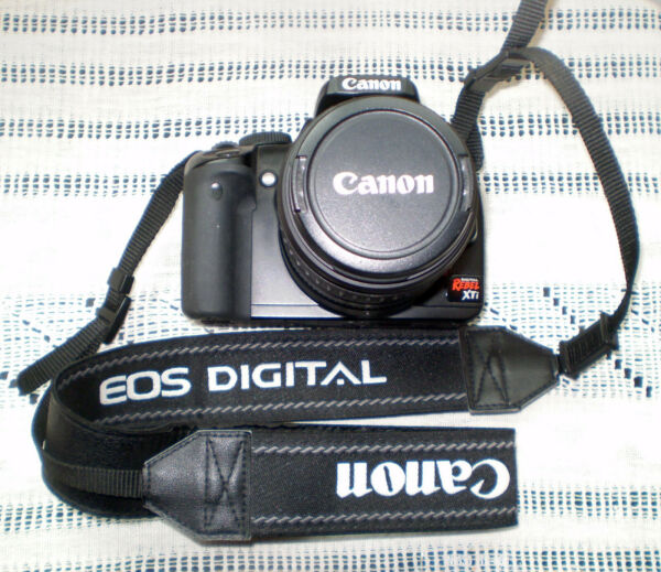 CANON EOS 400D REBEL XTi Black Digital Camera with EF S 18 55 Kit Lens $120.00