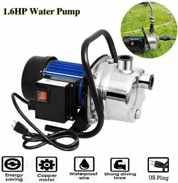 1.6HP Stainless Steel Electric Water Pump Garden Sprinkling Irrigation Booster:#x27; $107.99