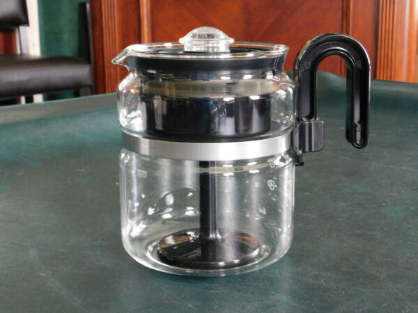One All by Medelco Glass Stovetop Percolator Coffee Pot 8 cupNEW wo BOX