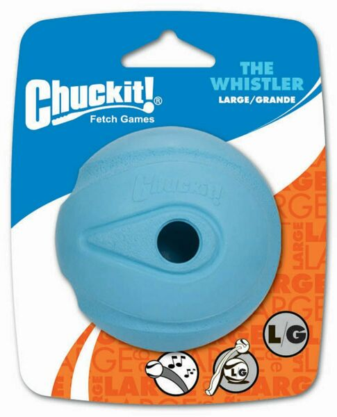Chuckit Dog Fetch Toy WHISTLER BALL Noisy Play Fits Launcher LARGE $10.29