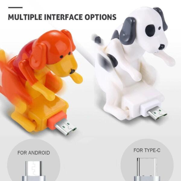Type c For Android Micro USB smartphone Humping Funny Dog Fast charger cable $6.08