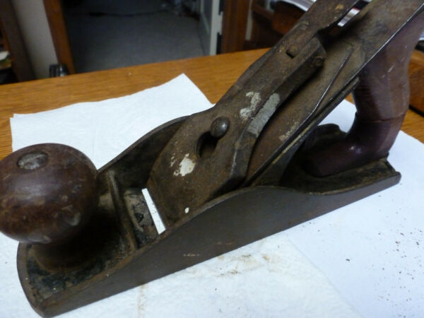 : vintage Wood Plane made in USA 9 1 2quot; long woodworking carpentry
