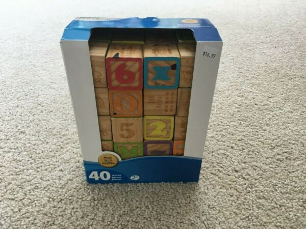 Imaginarium First Discoveries 26 Alphabet Letters Real Wood Blocks ABC in BOX