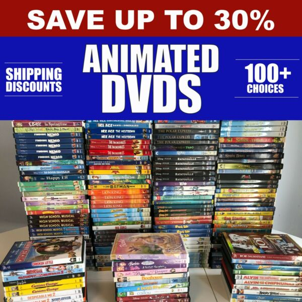 DISNEY amp; ANIMATED DVDs Pick Your Own **Combined Shipping amp; Deep Discounts**