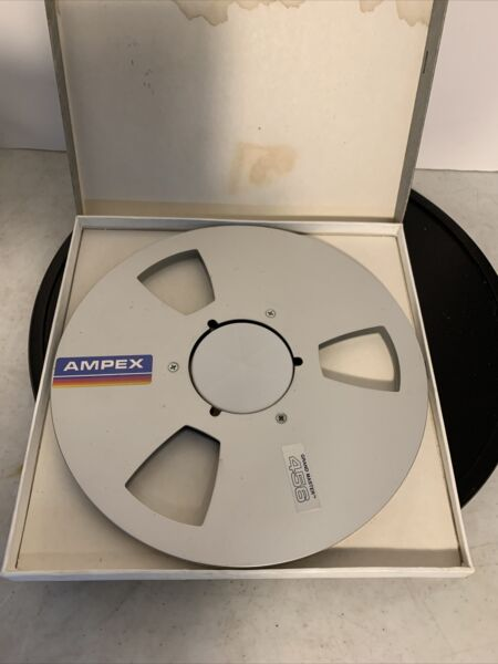 Ampex Grand Master 456 Magnetic Tape 10.5quot; Metal Reel to Reel 1 4quot; Tape USED