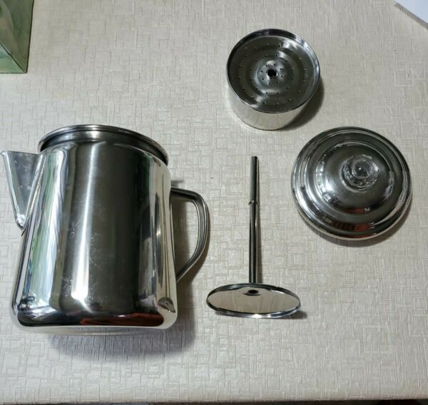 Coleman 12 cup Stainless Steel Stove Top Camping Coffee Pot Percolator