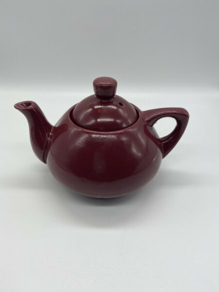 Small Vintage RED Ceramic Teapot With Lid Made In Japan $10.99