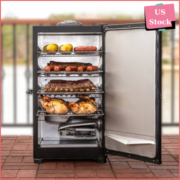 Best Choice Item 30quot; Black Digital Electric Smoker Grill 4 Rack Free Shipping $157.98