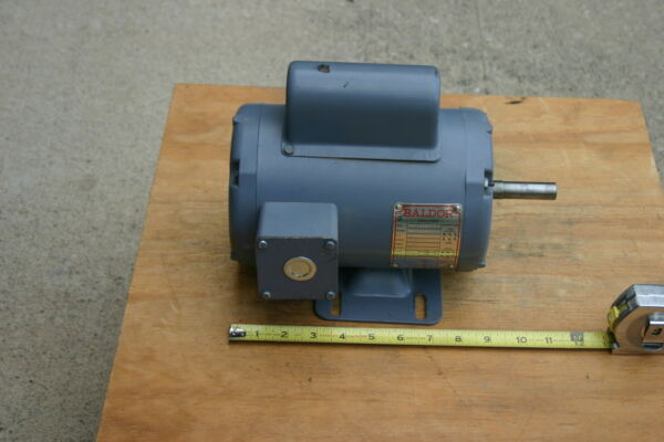 Baldor Single Phase Electric Motor. 1 2 hp. 1725 rpm. Made in USA. $99.95