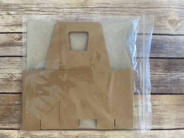 Stampin Up Mini Customizable Kraft Coffee Cup Carrier Package of 8 Retired NEW $8.00