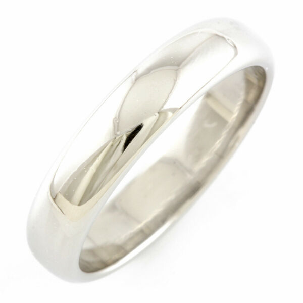 TIFFANYamp;Co. Ring Pt950Platinum #US 7 1 4 #EU 55 Band simple from japan used $703.00
