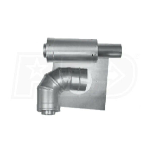 Rheem 3 in. x 5 in. Horizontal Stainless Steel Concentric Termination Vent Kit f $70.00