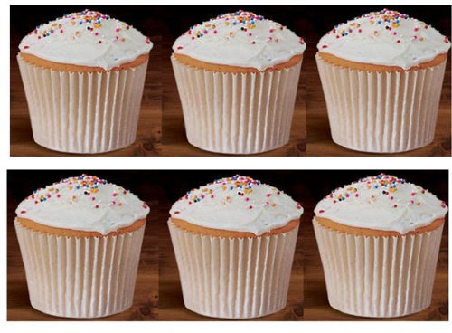 100 White Large Jumbo Texas Muffin Cupcake Cups White flutted Cupcake Liners