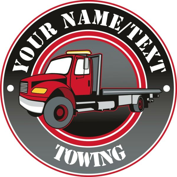 Salvage Tow Truck Business Towing Service Hauling Custom Decal 14