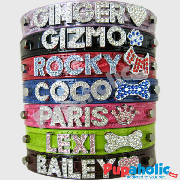 Croc Dog Cat Pet Personalized Collar XS S M L XL $14.95