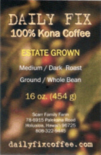 Pure 100% Kona Coffee - 5 LB from Award-Winning Estate