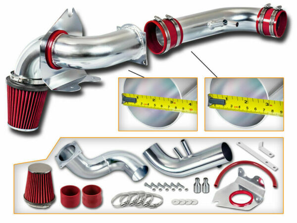 Cold Air Intake Kit + RED Filter For 96-04 Ford Mustang GT 4.6 V8