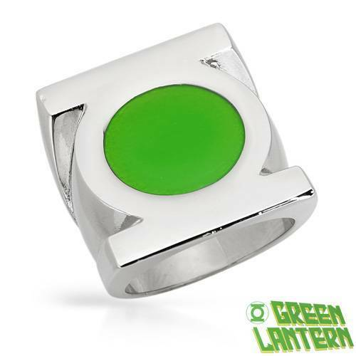 GREEN LANTERN Dazzling Brand New Ring Made in Green Enamel and Stainless steel.