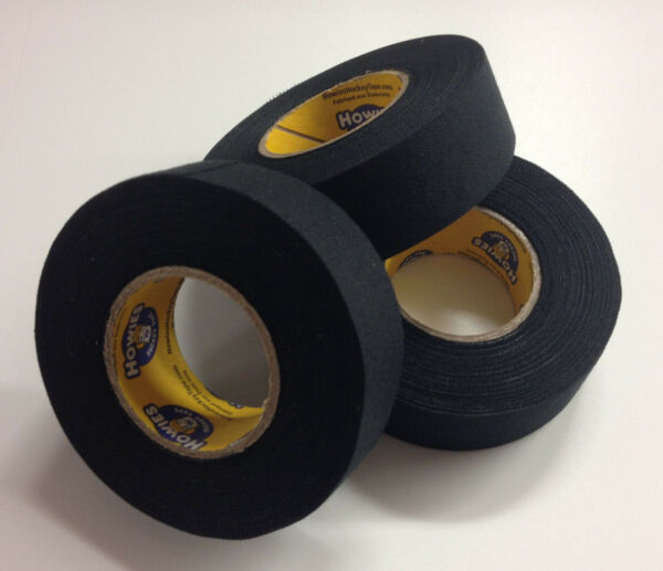Black Hockey Tape 1x15 Yards 3 Rolls of Black Howie#x27;s Hockey Tape