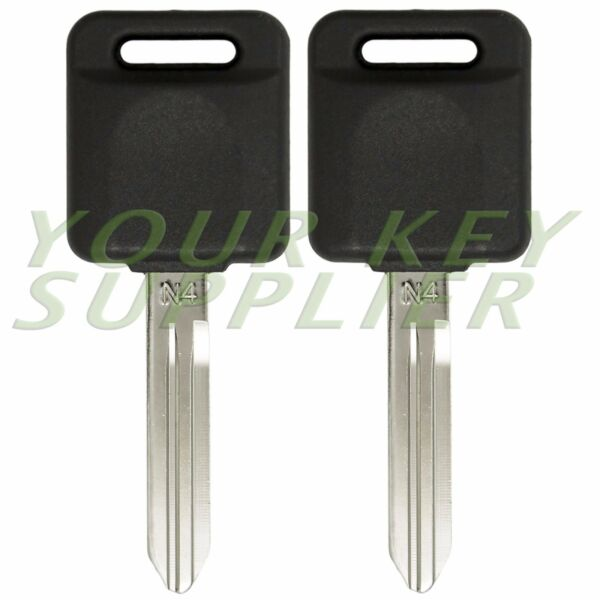 2 New Uncut Replacement Chip Transponder Ignition Car Key
