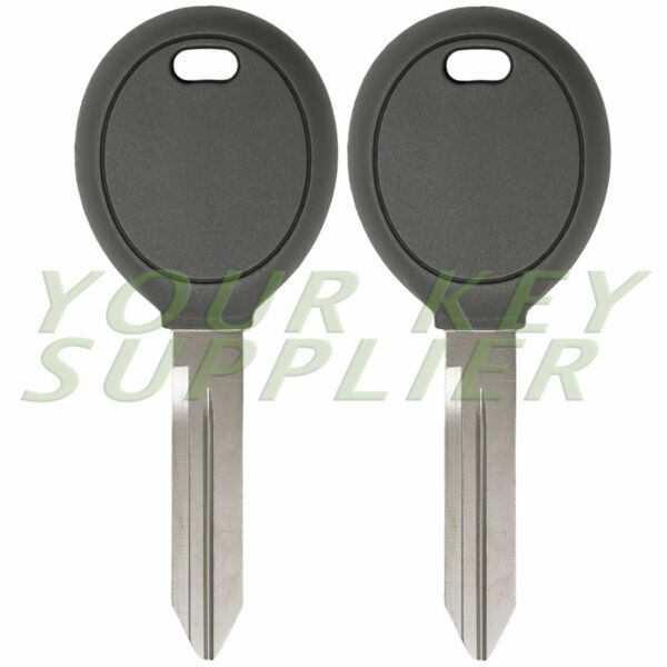 Pair Transponder Chip Ignition Car Key Replacement Blank for Chrysler Dodge Jeep
