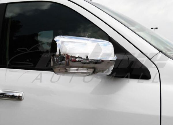 Chrome Mirror Covers WITH Turn Signal Cut-Outs FOR 2013-2018 Dodge RAM 1500 2500 $54.95
