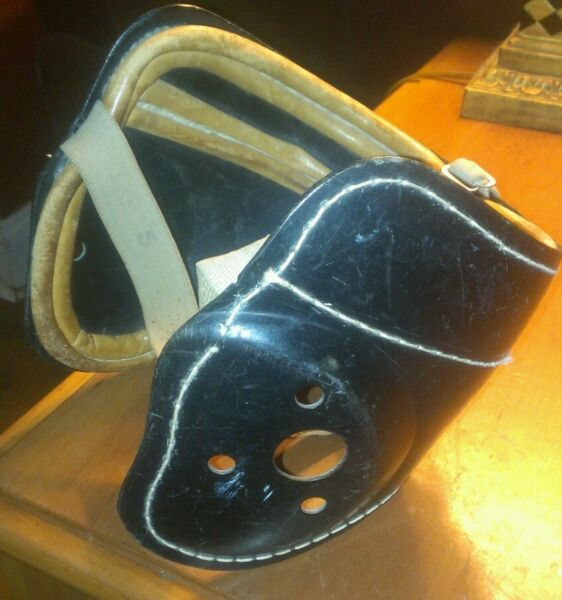 Antique Boxing Headgear by SPALDING Sporting Goods 1940#x27;s 1950#x27;s