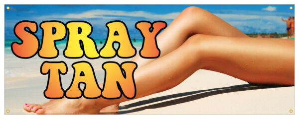 Spray Tan Banner Summer Sexy Tanning Salon Retail Store Sign 18x48