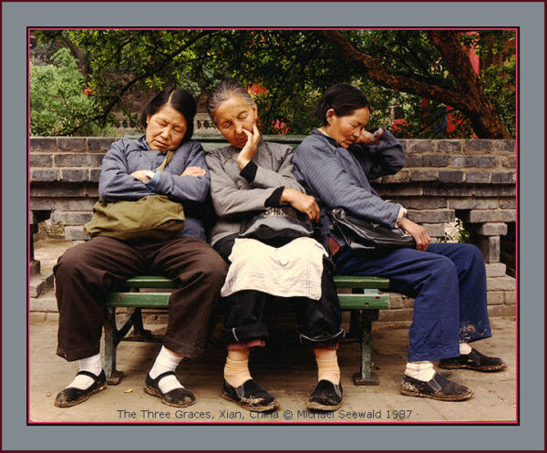 Master photographer Michael Seewald's 'The Three Graces China '87- #810 signed