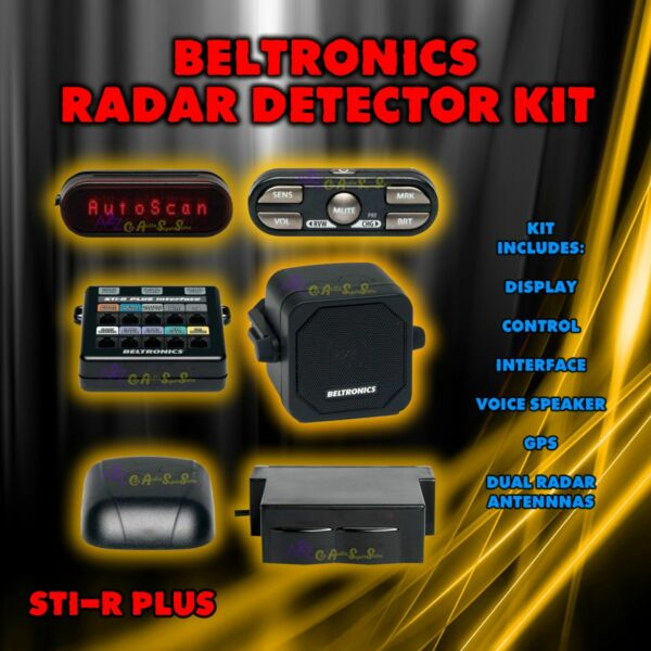 BELTRONICS STIR STI-R PLUS  RADAR DETECTOR STIR NEW USES OPTIONAL SHIFTER PACK