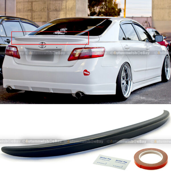 For 07 08 09 10 11 Camry Sedan Unpainted OE Style Rear Trunk Lip Wing Spoiler