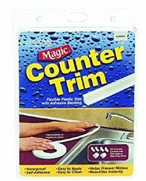 Magic Counter Trim Strip, Almond, CT50, 1/2 Inch x 16 Ft. (1.2 cm x 4.9 m), NEW