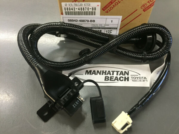 2004 2007 HIGHLANDER TOW HITCH 4 PIN FLAT WIRE HARNESS GENUINE TOYOTA $38.37