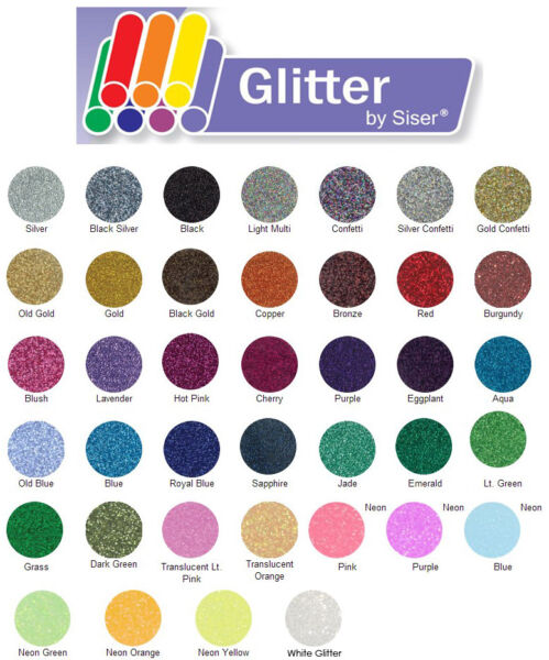 Explore Using Siser GLITTER Iron-On Heat Transfer Vinyl    Plus    BONUS Deals
