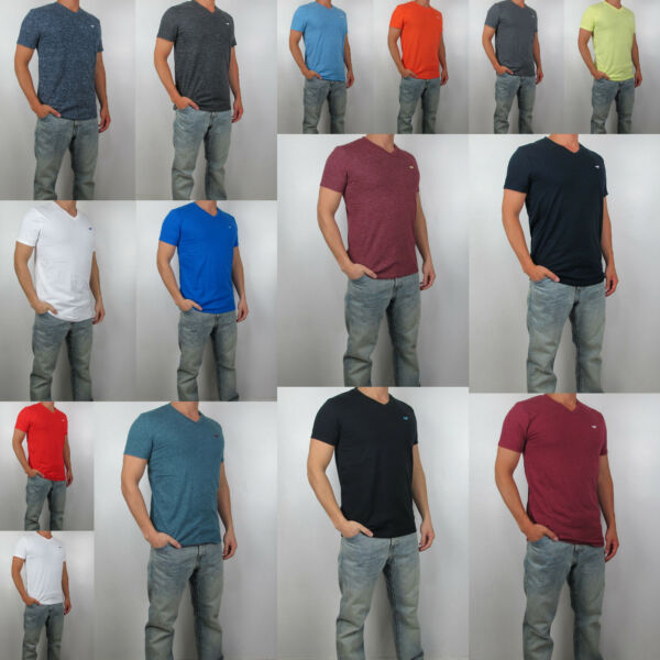 NWT HOLLISTER Men Must Have Slim Fit V Neck tag less T Shirt Tee By Abercrombie $10.99