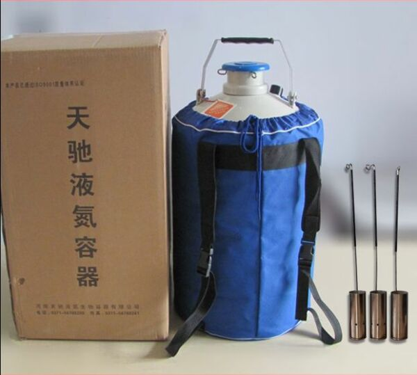3L Liquid Nitrogen Storage LN2 Tank Static Cryogenic Container with Straps t