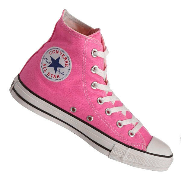 Converse Hi Top All Star Chuck Taylor Pink White Mens Womens Shoes All Sizes