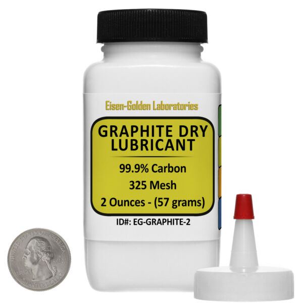 Graphite Dry Lube [C] 99.9% ACS Grade Powder 2 Oz in a Dispenser Bottle USA