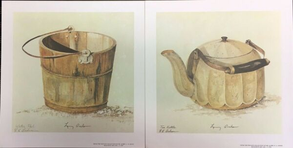 Tea Kettle and Water Pail by Larry Dodson: Rustic Still Life