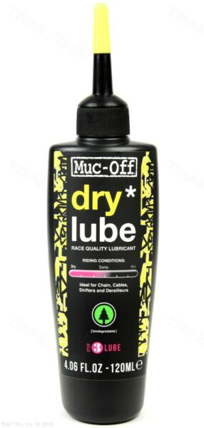 Muc Off Dry 120ml Bicycle Chain Lube Bottle Road MTB CX Biodegradable 4oz $10.99