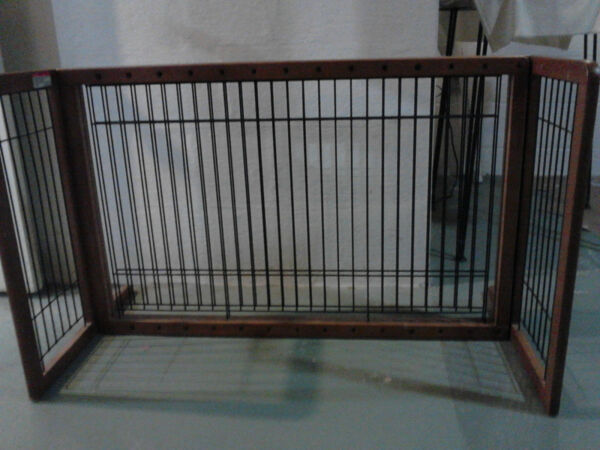 Set of two beautiful wood and wire baby or pet gates