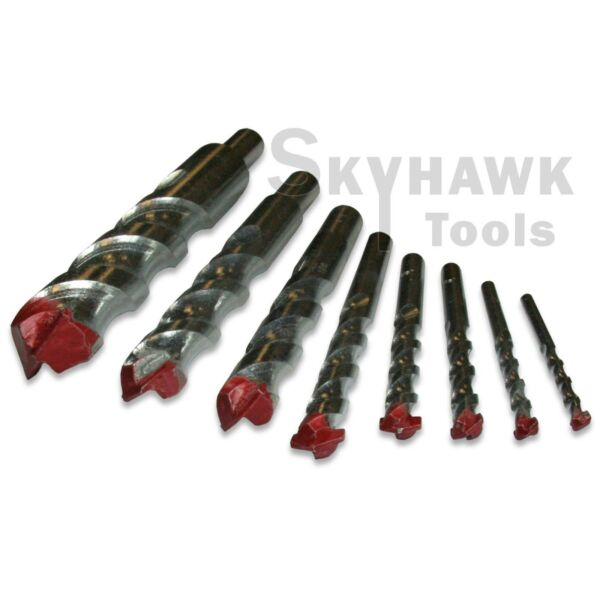 8 pc Jumbo Masonry Drill Bit Set 3/16